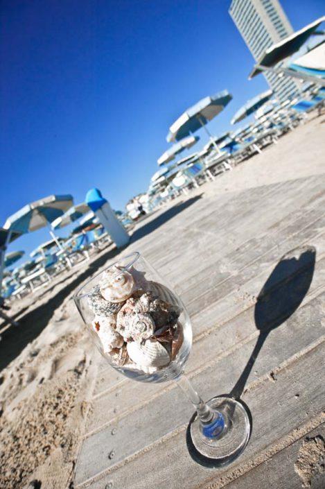 Spiaggia passerella Bagno Fafin Cesenatico